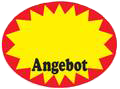 "Aktionsetiketten, ""Angebot"", oval 37 x 28 mm, Box"