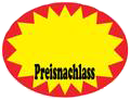"Aktionsetiketten, ""Preisnachlass"", oval 37 x 28 mm, Box"