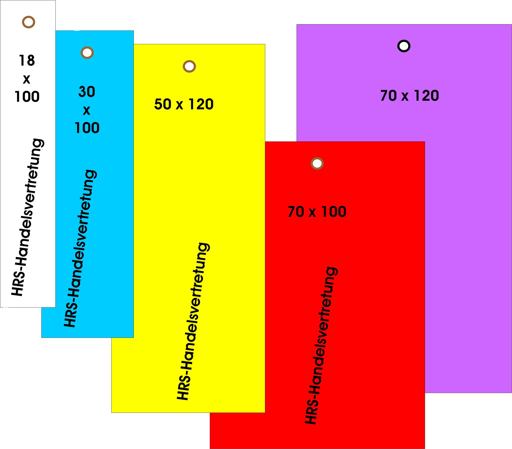 250 Stück Drahtanhänger 30 x 100 mm mit Kupferdraht Messingöse Etiketten